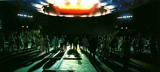Famous scene from 'Close Encounters of the Third Kind'