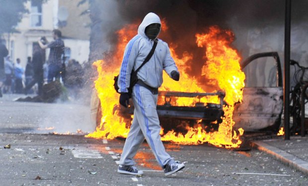 Rioter in Hackney