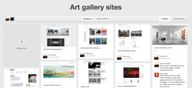 An example of what a Pinterest Board can look like